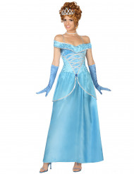 Blå prinsessdräkt vuxen