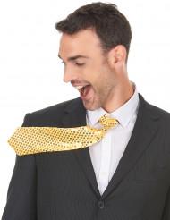 Gyllene slips med paljetter