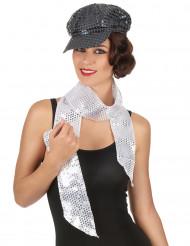 Glansig silver halsduk - vuxen