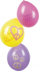 Love & Peace - Ballonger till maskeraden 25 cm