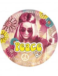 6 tallrikar i Hippie-tema till festen