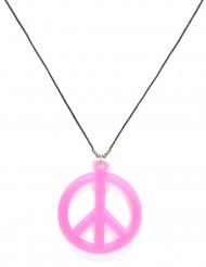 Rosa  Hippie  halsband - vuxen