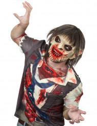 Blodig zombie med hår lyxmask