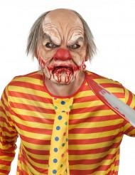 Lyxig clownmask med hår