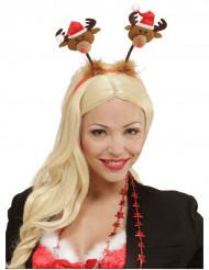 Diadem med små renar till jul