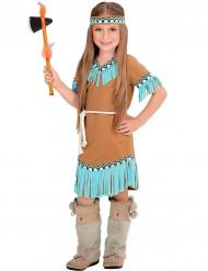 Brun och blå indiandräkt barn