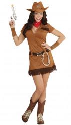 Maskeraddräkt western cowgirl vuxen