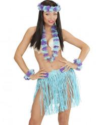 Kit i blått och lila med hawaiinspiration