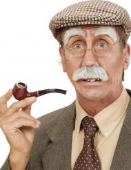 Gubbens mustasch och ögonbryn - Maskeradtillbehör för vuxna