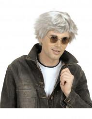 Grå korthårig peruk