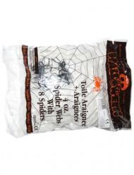 Vit spindelväv 113 g - Halloweendekoration
