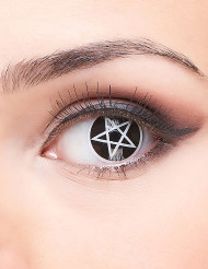 Linser med pentagram - Halloweensminkning