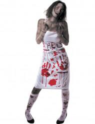 Blodigt förkläde Halloween vuxen