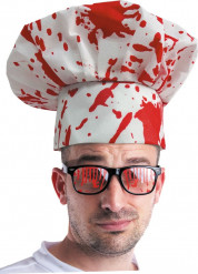 Blodig kockmössa Halloween vuxen