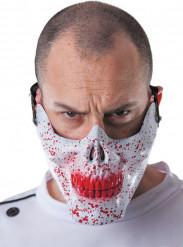 Blodig halvtäckande dödskalle mask