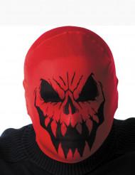 Röd monsterhuva Halloween vuxen