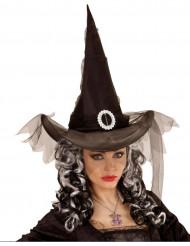 Svart häxhatt till Halloween för vuxna