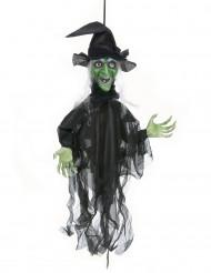 Lysande och talande häxa Halloween