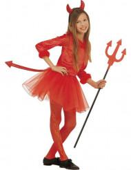 Liten djävulsdräkt med röd tyllkjol till Halloween för barn