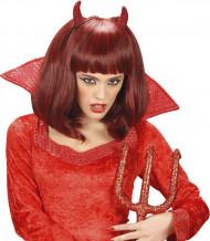 Peruk röd Halloween