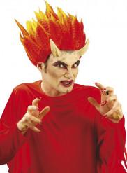 Djävulshorn med lim Halloween vuxen