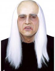 Peruk med flint och vitt hår vuxen