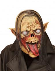 Mask vampyr-zombie med hår Halloween vuxen