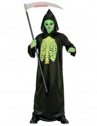 Skelettdräkt uppskuren Halloween barn