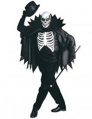 Skelettkostym med cape Halloween för vuxna