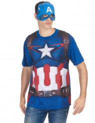 Maskeraddräkt T-shirt och mask Captain America™ film 2