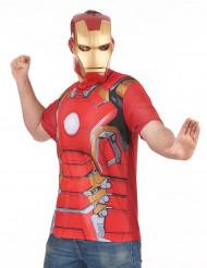 T-shirt och mask vuxen Iron Man™ movie 2