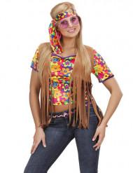 Brun hippieväst med fransar vuxen