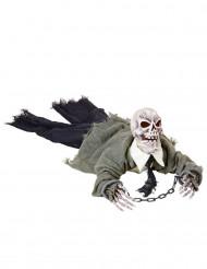 Skelett som rör sig med ljus och ljus - Halloweendekoration