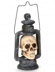 Dödskallelykta till Halloween 35 cm