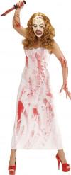 Maskeraddräkt blodig mörderska kvinna Halloween