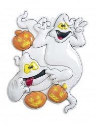 Spöken och pumpor på väggen - Halloweendekoration