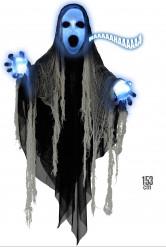 Liemanen som lyser och skriker - Halloweendekoration 153 cm