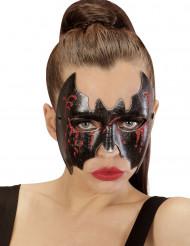 Blodig fladdermusmask Halloween
