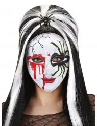 Blodig mask med spindel Halloween vuxen