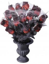 Bukett med rosor täckta av spindelnät 35 cm
