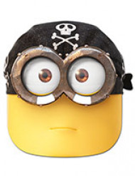 Pirat minion™ - Mask i kartong till kalaset