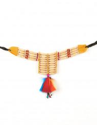 Indianhalsband med fjädrar dam