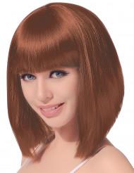 Peruk Brunt hår Pagefrisyr