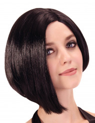 Kort svart page peruk
