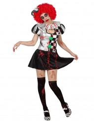 Blodig clown - utklädnad vuxen Halloween