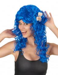 Sjöjungfru peruk med snäckskal för vuxna