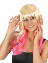 Peruk Tie&Dye Blond och rosa