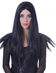Peruk Långt svart hår