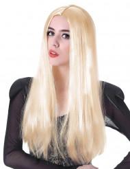 Blond peruk för vuxna till maskeraden 60 cm