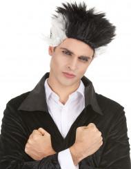 Vampyrperuk för vuxna - Svart och vit